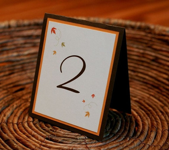 Recycled Wedding Table Number