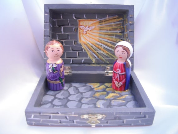 Annunciation Play set, House of Loreto - ready to ship