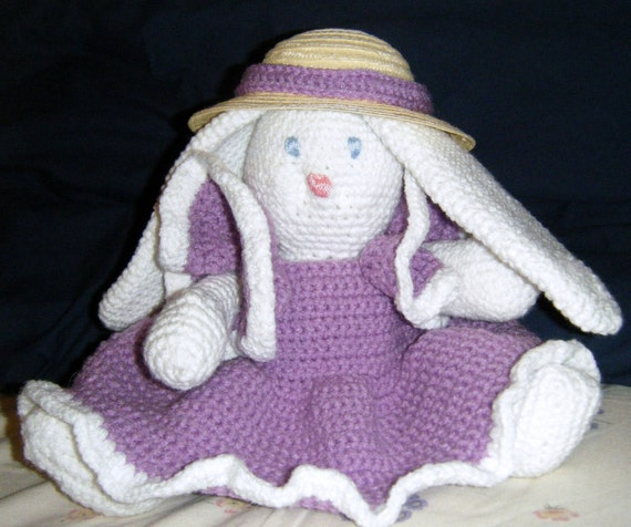 Handmade Crochet Easter Bunny Amigurumi READY TO SHIP