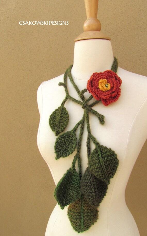 English Rose Lariat-Terracotta