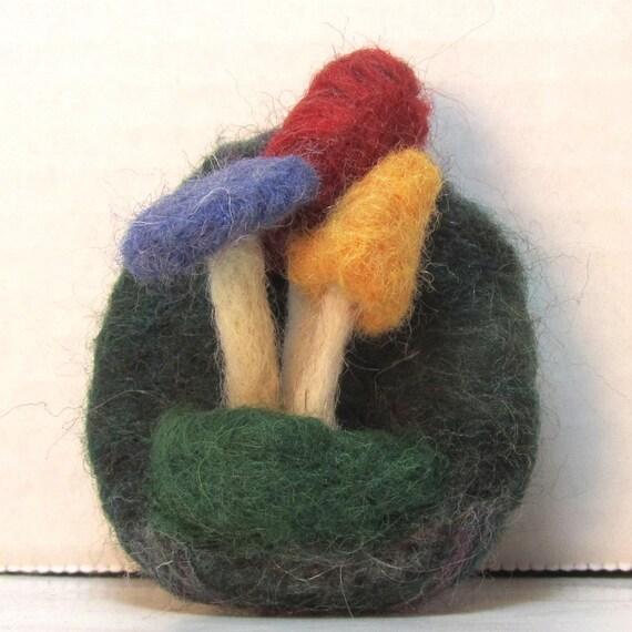 Fantasy Mushroom Pin -Woodland Walk Fungus