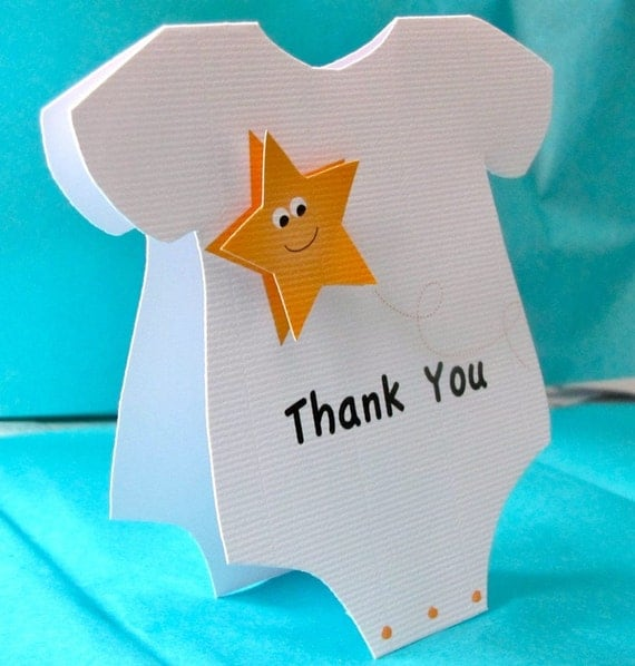Onesie Thank You Cards - Little Star