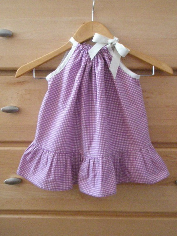 Child's  upcycled pillowcase dress sized 12-18 months Ready to ship