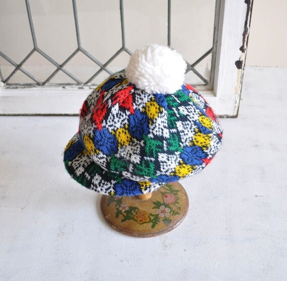 Vintage COSBY Knit Golf Hat by MariesVintage on Etsy