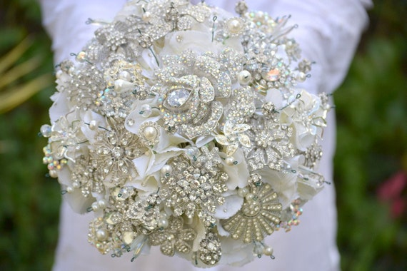 how to make a brooch bouquet with styrofoam