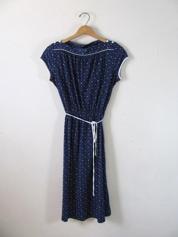 Vintage Blue 1970s Dress