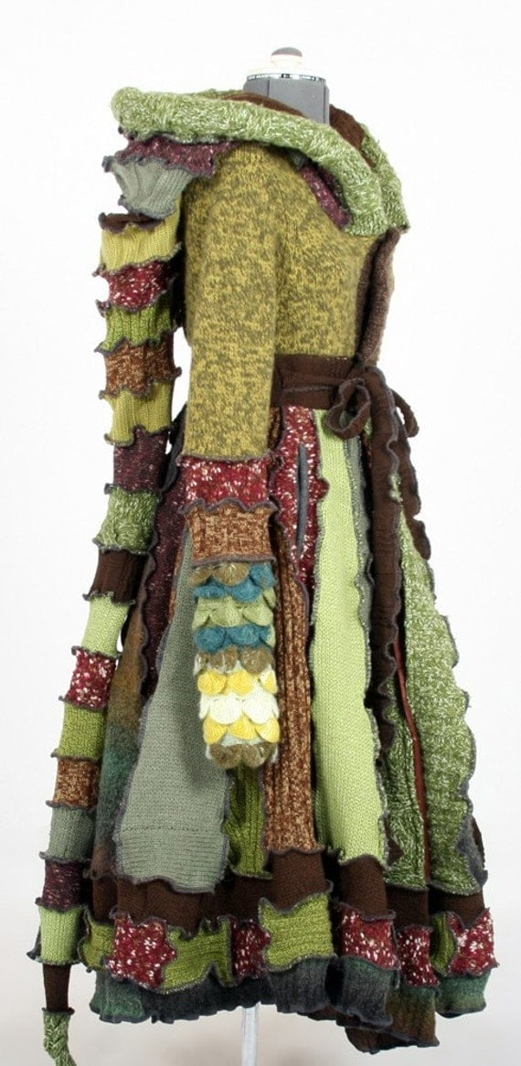 RESERVED for Gigi - One of a kind Forest Fairy Dream Coat by Enlightened Platypus -  Upcycled Elf Couture