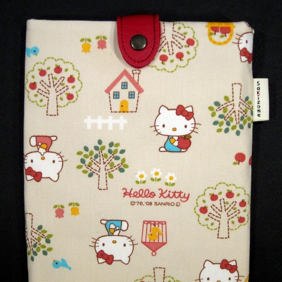 NEW Hello Kitty (natural) Kindle Case with Japanese Button Tab