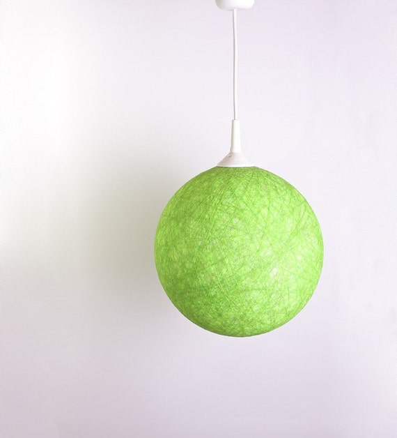Handmade lamp, lamp shade, pendant light, ceiling, hanging lamp, Contemporary design interior accent Spring Green by FiligreeCreations on Etsy