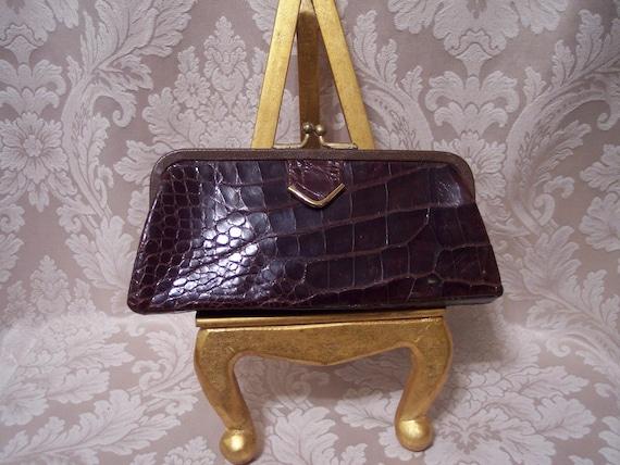 Vintage Alligator Wallet Clutch
