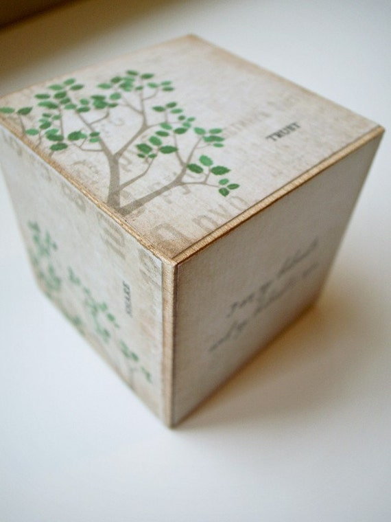 custom ring block: birch branch