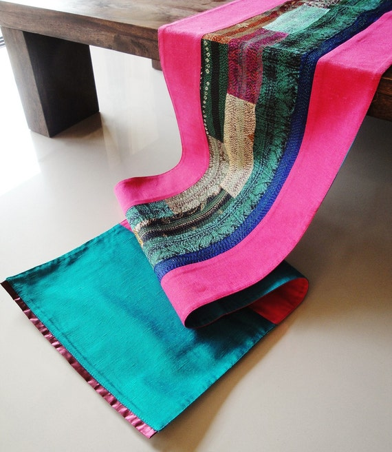 Silk Kantha Table Runner