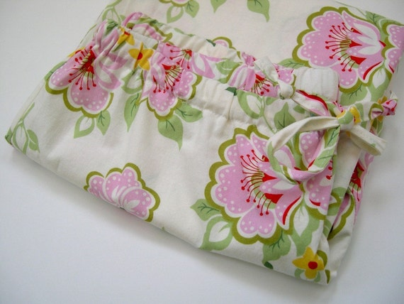 Capri Lounge Pant S Small in Pink Green Church Flowers