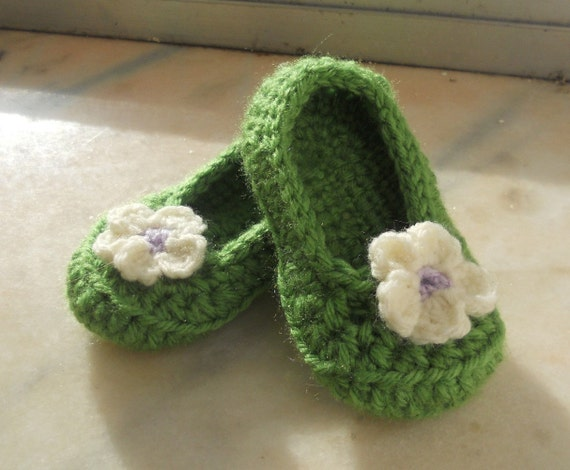 Flower Ballet Flat (size 6-9 months) Ready To Ship