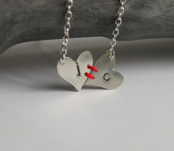 Visible Commitment - Heart to Heart Sterling Necklace
