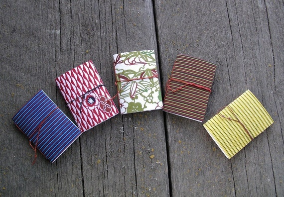 5 Mini Booklets --  Stenciled Stripes and Patterns