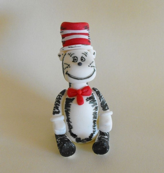 Dr Seuss - Cat In The Hat Cake Topper. From thelildetails 2011