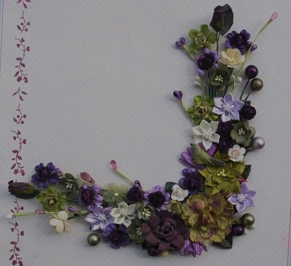 Enchanted Corner Bouquet for Scrapbooking