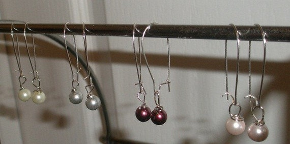Glass Pearl Drop Earrings