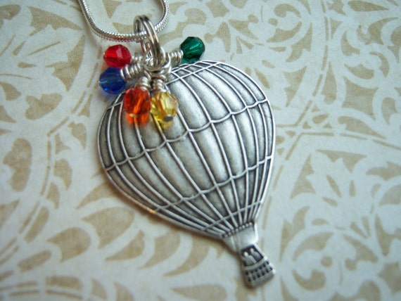 Hot Air Balloon. Balloon Necklace. Hot Air Balloon Necklace. Wizard of Oz Necklace. Albuquerque. Balloon Fiesta Necklace.