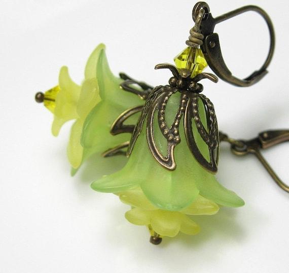 Jonquil Swarovski Vintage Style Flower Earrings