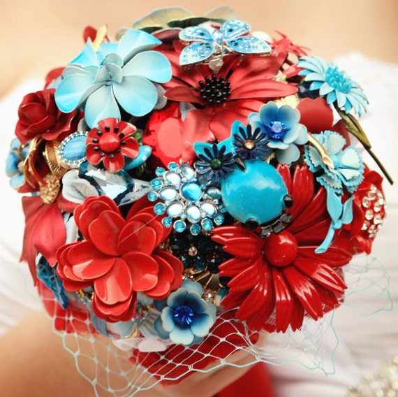 Brooch Bouquet - The Carnival Bouquet