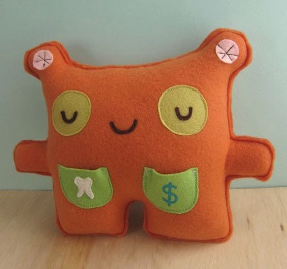 Tooth Fairy Friend Monster Pillow