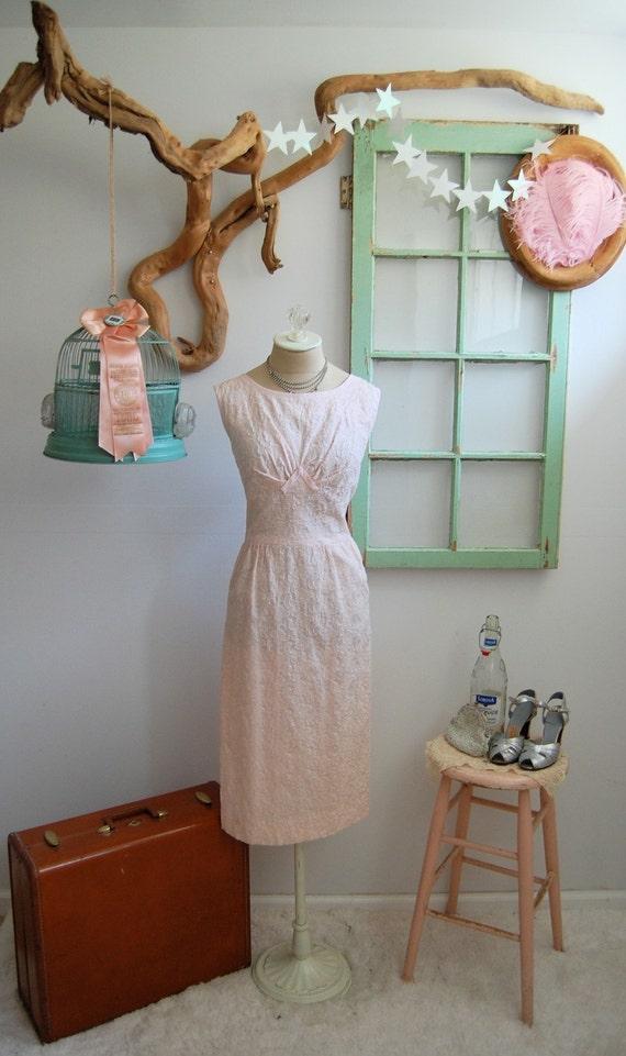 The Luna- Vintage 1950s 1960s Carlye Pink Dress & Jacket Set