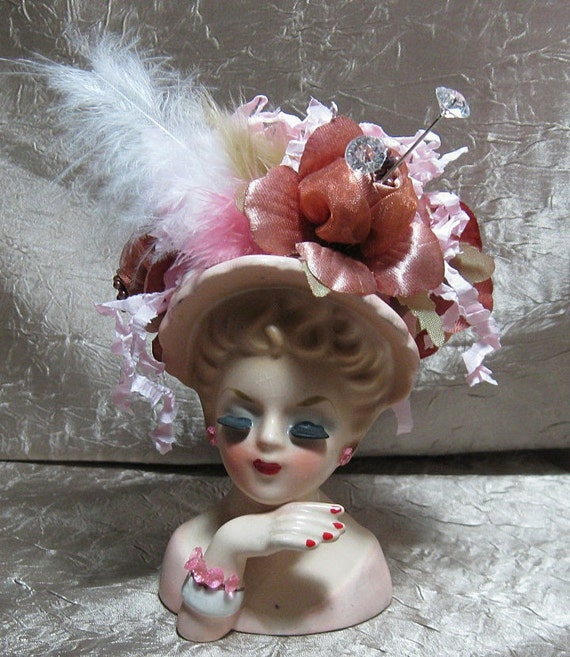Inarco Ladys Head Vase Upcycled
