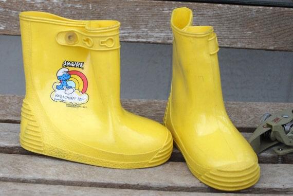 Easter Sale Vintage Smurf Rain Boots