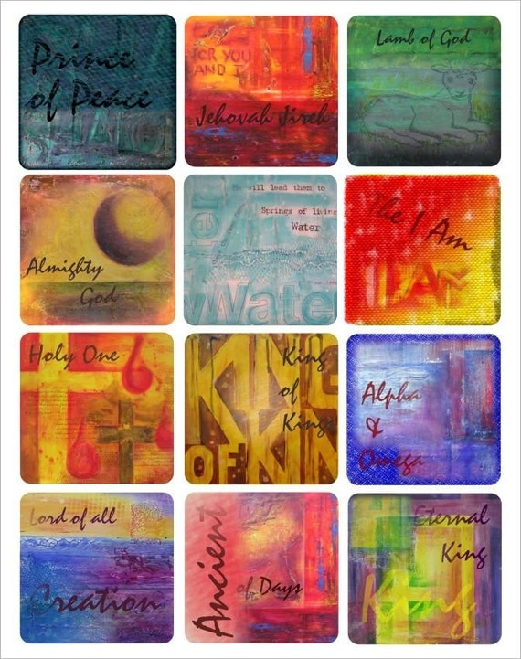 Names of God fine art print stickers labels