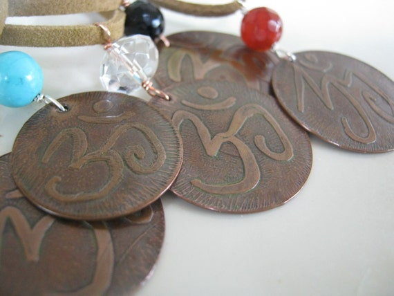 OM and reclaimed copper necklace