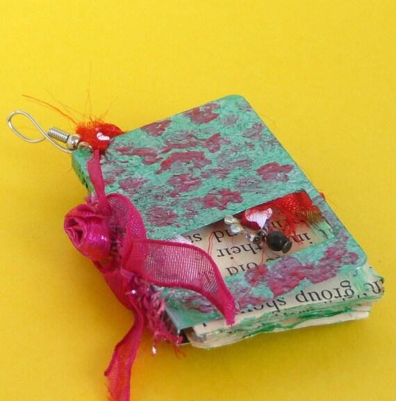 mini shabby chic flower pendant steampunk