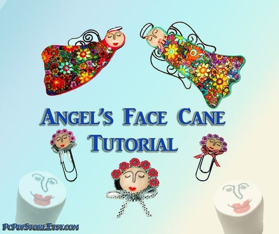 Angel's Face Cane e book PDF  30 pages step by step instructions How to Create Face CaneTutorial