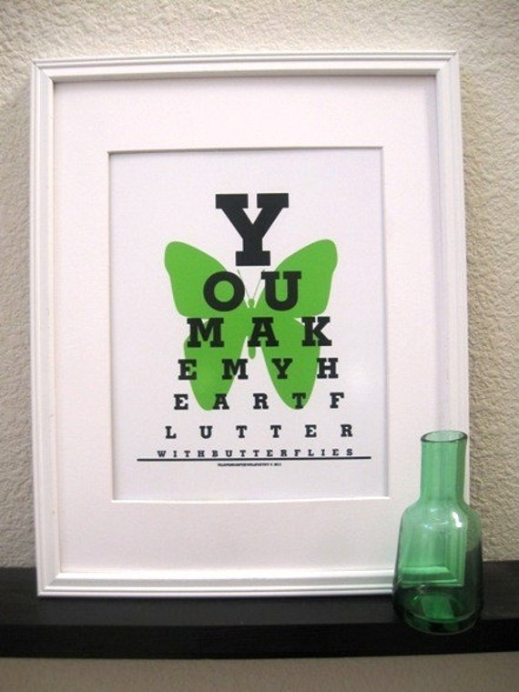 Eye Test Charts (You Make my Heart Flutter with Butterflies)-