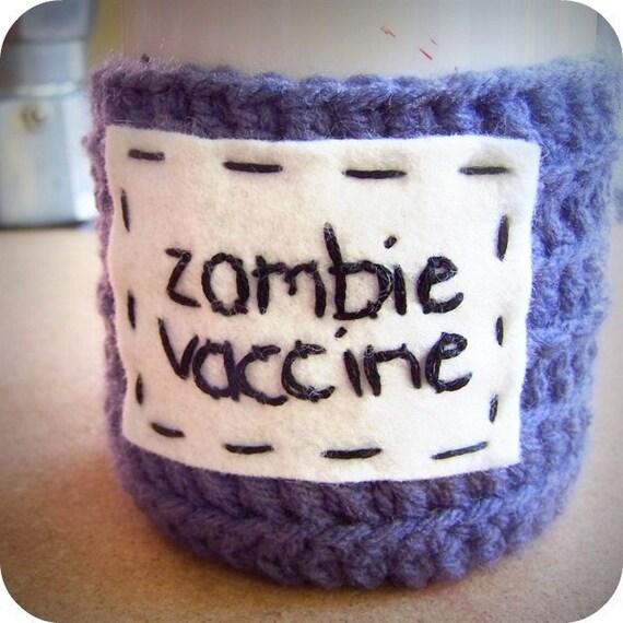 Zombie Vaccine funny coffee mug cozy handmade