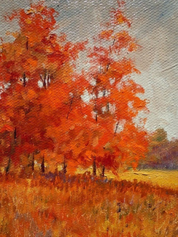 Autumn Red, 8 x 10 original oil by Anthony Soskich