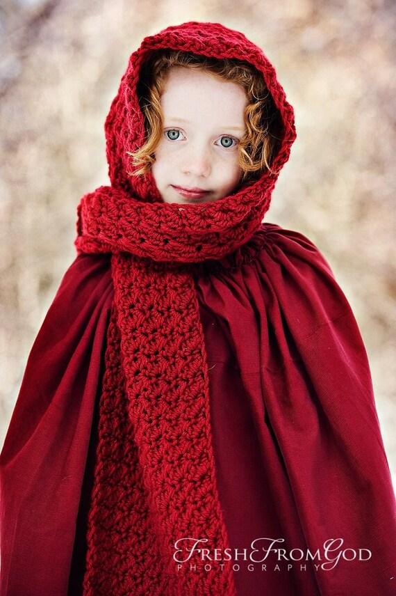 Красная Шапочка Scoodie капюшоном Шарф нестандартного размера и цвета