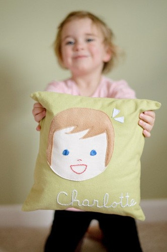 Personalized Pillow - Girl or Boy - Pillow Cover PLUS Insert