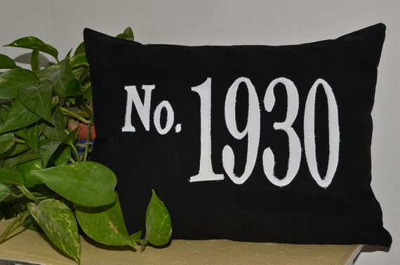 House Number Pillow