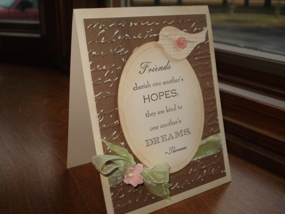 Friendship Card Shabby Chic