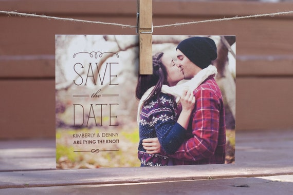 Save the date cards should be more relaxed than the more detailed and