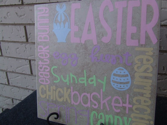 Easter Subway Art 12x12 vinyl
