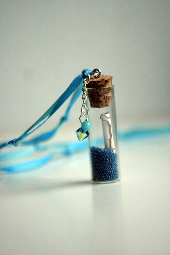 Message in a Bottle,Pirate, Mermaid Pearls/Bubbles, Pixie Dust Necklaces, Map