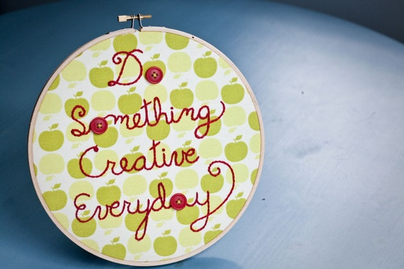 embroidery hoop embroidery motto