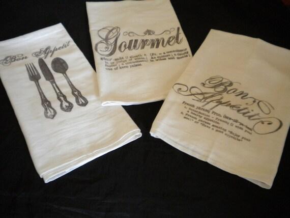 Set of Three Kitchen Towels