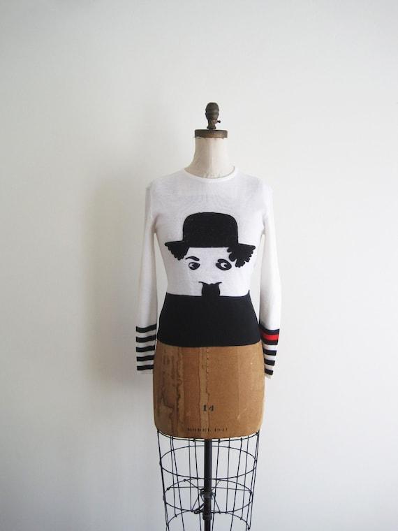 1970s CHARLIE CHAPLIN Sweater
