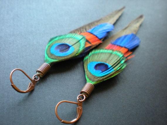 Heathers feather earrings - Avish
