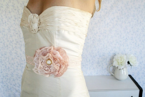 English Rose belt or headband -  a Versatile Piece