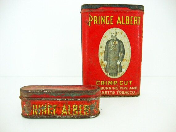 Prince Albert Tobacco Tin and Match Safe